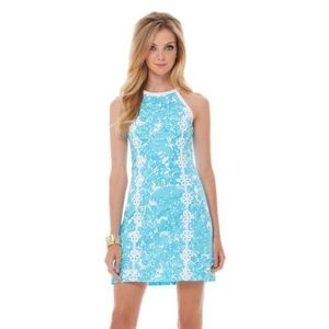 Lilly Pulitzer Floral Pearl Trim Shift Dress